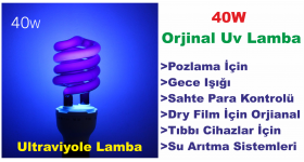 Ultraviyole Lamba 40W - Blacklight (Orjinal UV)